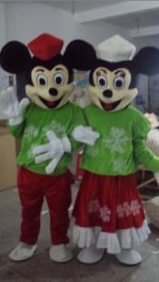 ミッキーとミニ― ヌイグルミ アニメ仮装 コスチューム
