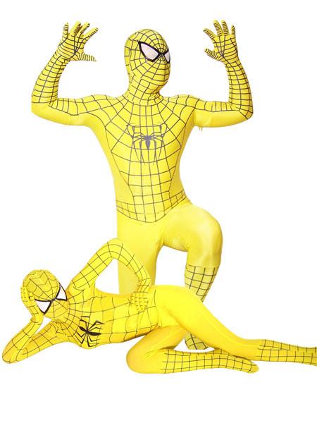 スパイダーマン 全身タイツ衣装  黄