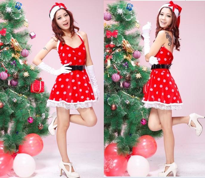 新品 クリスマス衣装 パーティー サンタドレス コスプレ コスチューム