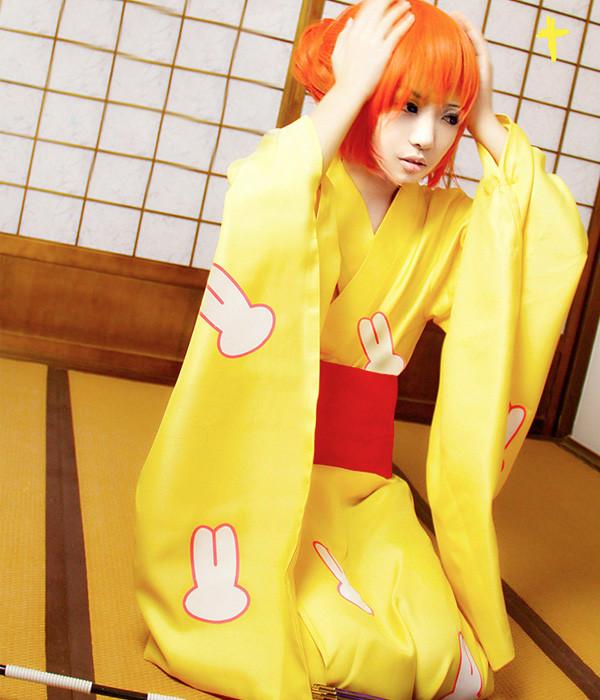 銀魂 神楽(かぐら) 和服浴衣 コスプレ衣装