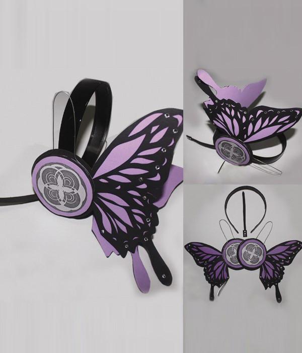 VOCALOID 初音家族 初音ミク 神威がくぽ 紫チョウのヘッドホン コスプレ道具