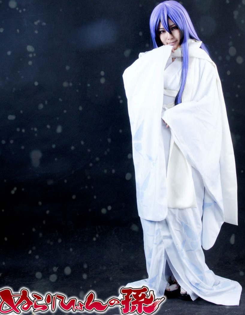 ぬらりひょんの孫 雪女 ゆきめ 雪麗(せつら) 和服 コスプレ衣装