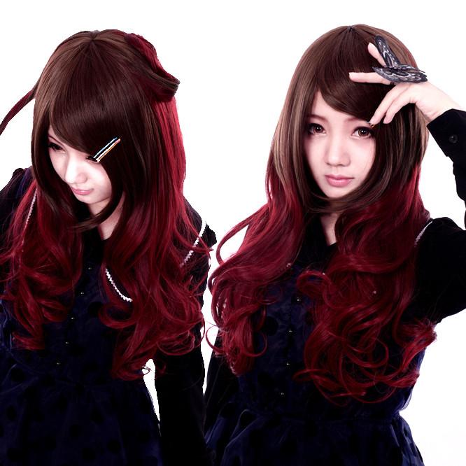 ゴシック式Lolita/ロリータウィッグ 混じる色