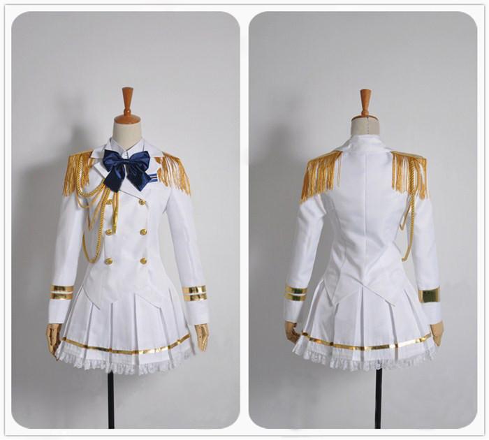 うたのプリンスさまっ  七海春歌 白色軍服 コスプレ衣装