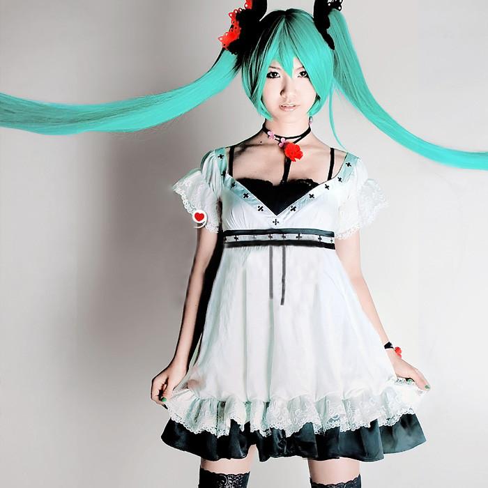 VOCALOID 世界で一番のおひめさま 初音ミク風ドレス コスプレ衣装