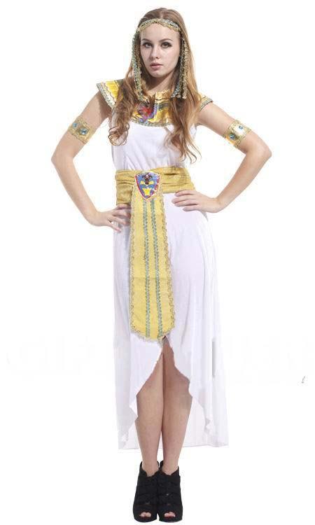 白い エジプト クレオパトラ 大人用 コスチューム ハロウィン コスプレ衣装
