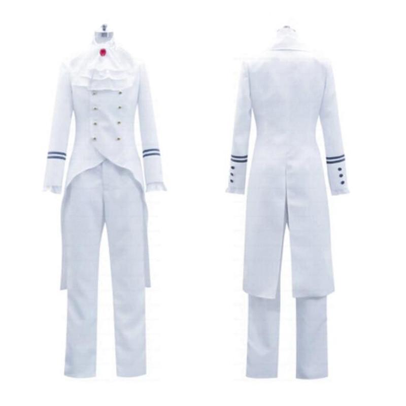 コスプレ衣装 コスチューム 黒執事  ドルイット子爵アレイスト?チェンバー風 白  制服 コスプレ衣装