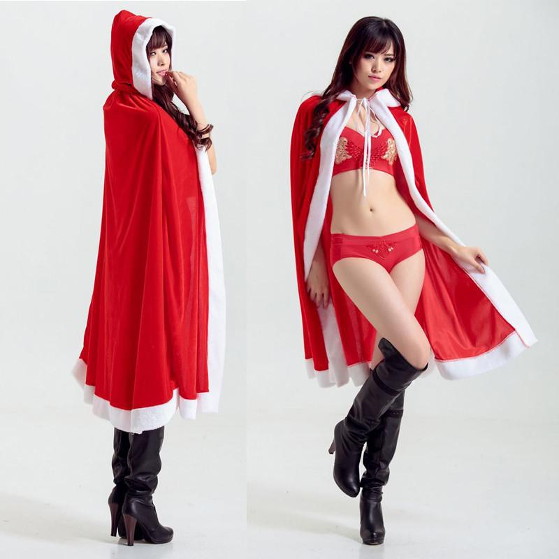 クリスマスコスプレ  ロングケープ サンタマント レディース  女王 クリスマスコスチューム