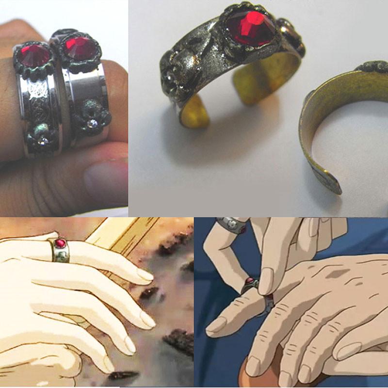 ハウルの動く城 ハウル 指輪 リング コスプレ道具 宝石