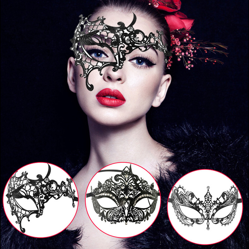 ハロウィンお面 姫お面 マスク 人工ダイヤ付 お面 仮装