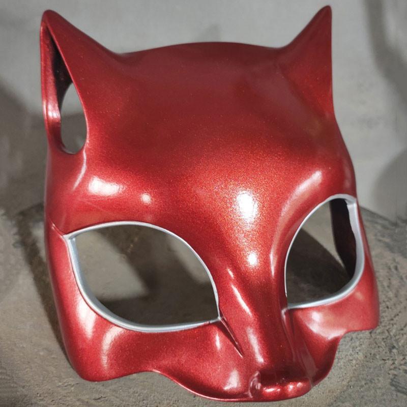 ペルソナ5 美少女 高巻 杏 真っ赤 お面 コスプレ用マスク