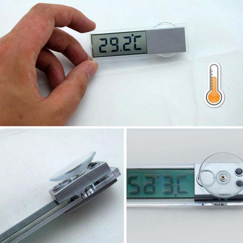 車用 カー用品 デジタル温度計 透過液晶 吸盤固定式  車載 温室 小型温度計 吸盤式