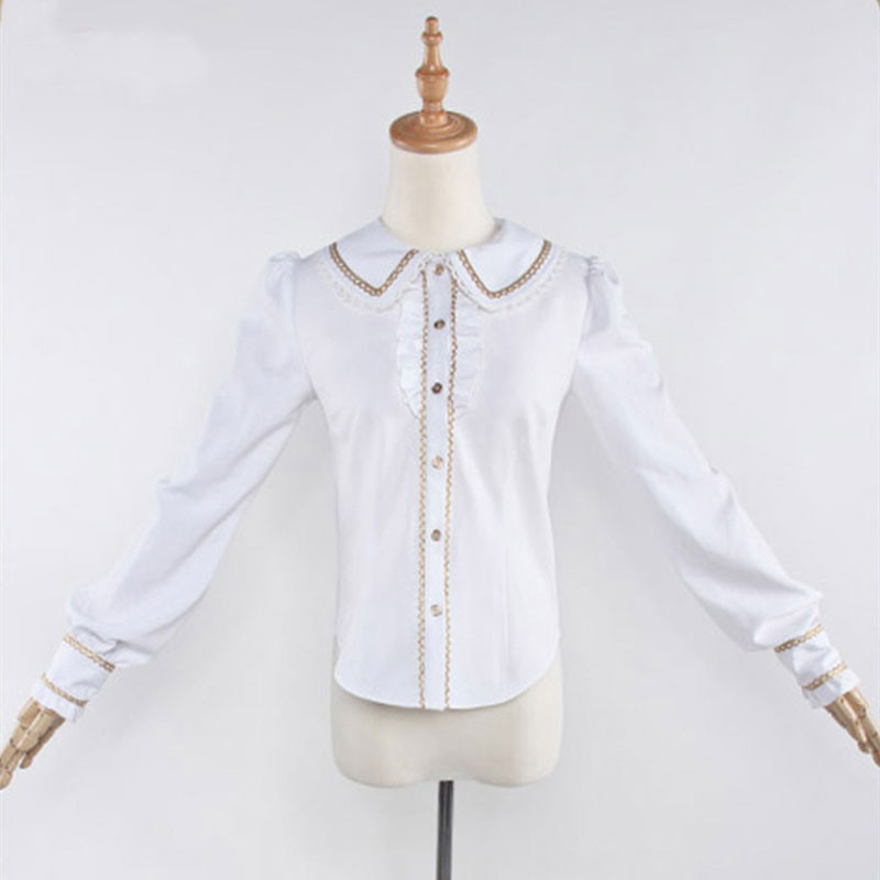 刀剣乱舞 同人洋装セット シャツ 長袖 金柄 シャツ 日常可能 姫 シャツ