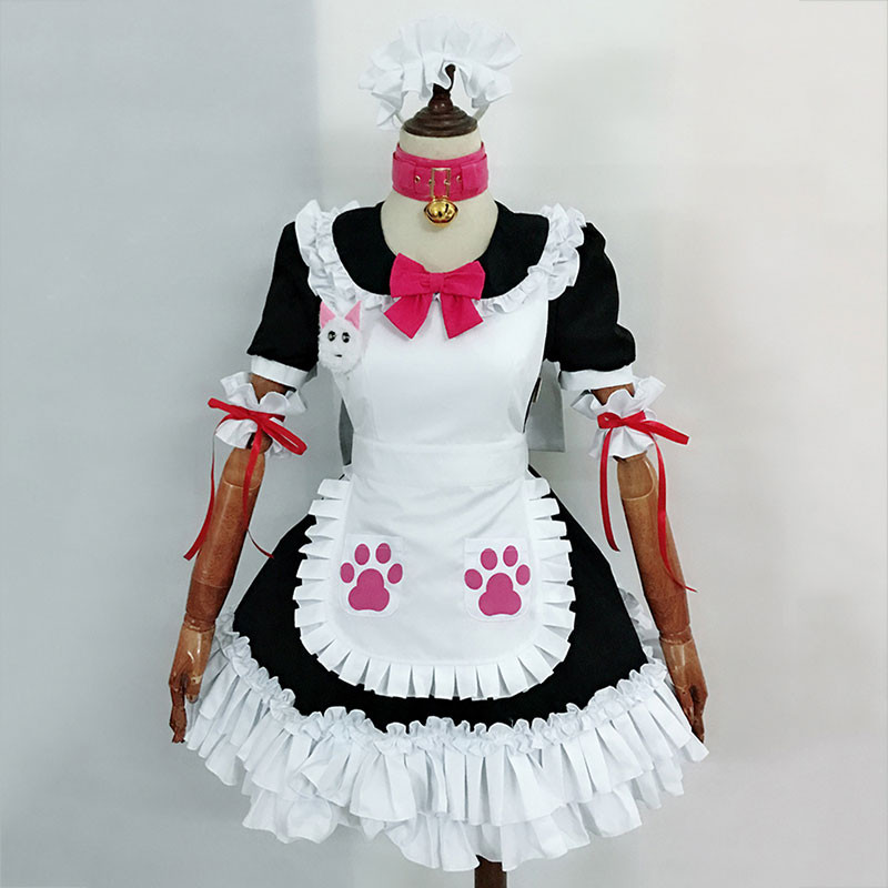 Fate Grand Order FGO 猫装メイド服 玉藻の前 コスプレ衣装 セット 高品質