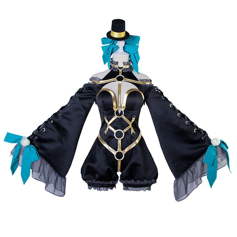 Fate/EXTELLA 玉藻の前 漆黒の魔術服 FGO Fate/EXTRA CCC 高品質 実物撮影 豪華修正版 コスプレ衣装+帽全セット