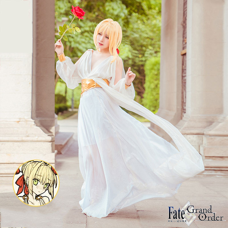 Fate/Grand Orderネロ 風 パジャマ コスプレ衣装 cosplay衣装 アニメ ハロウィン コスチューム イベント パーティー メイド服 仮装