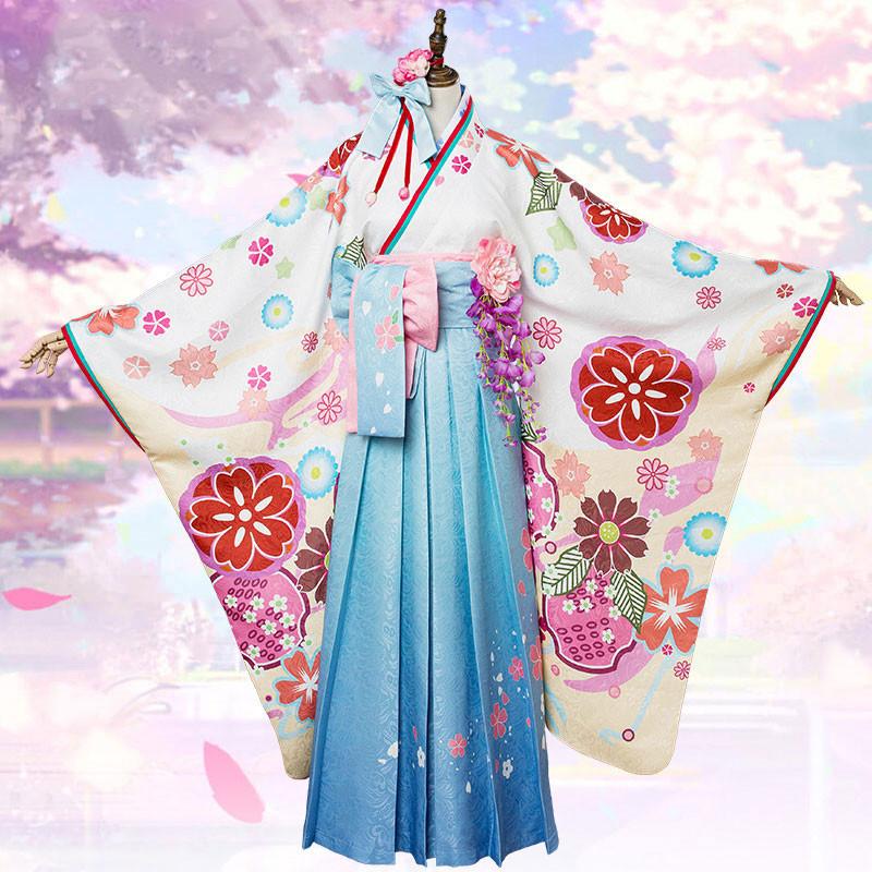 コスプレ衣装 ウィッグ付き マシュ・キリエライト FGO(FateGO) 新年礼装 概念礼装 着物 コスプレ