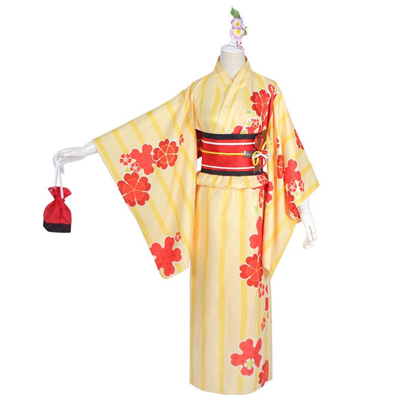 FGO マシュ・キリエライト 夏祭り コスプレ衣装 着物