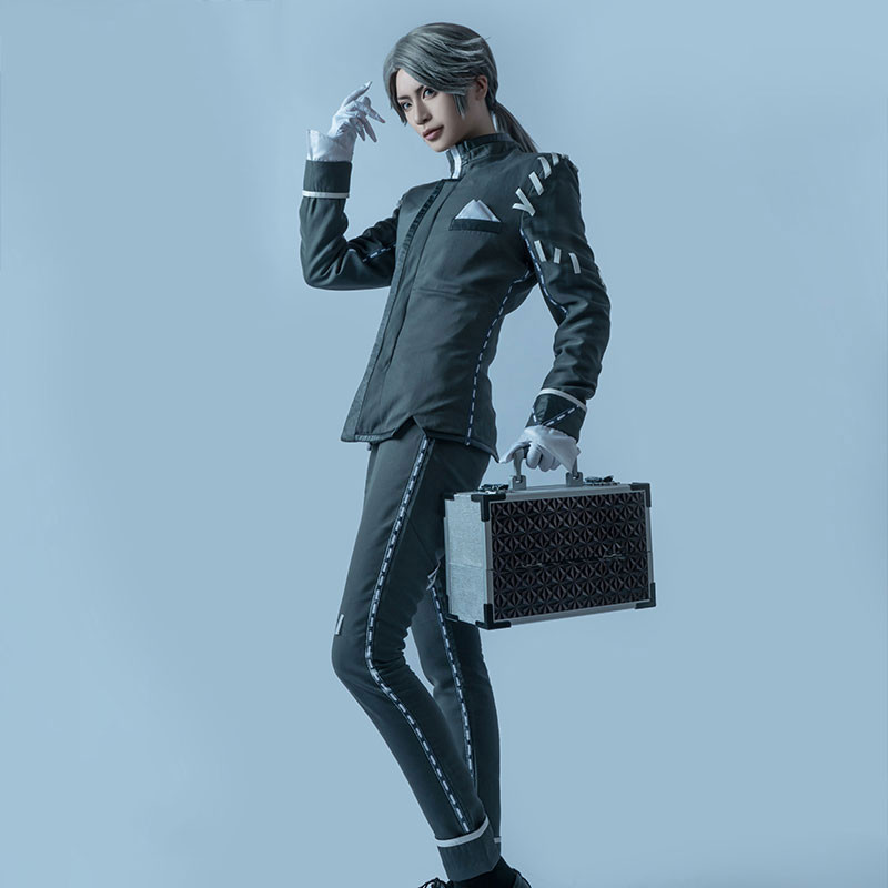 Identity Ⅴ 納棺師 イソップ・カール コスプレ衣装 全セット 灰色