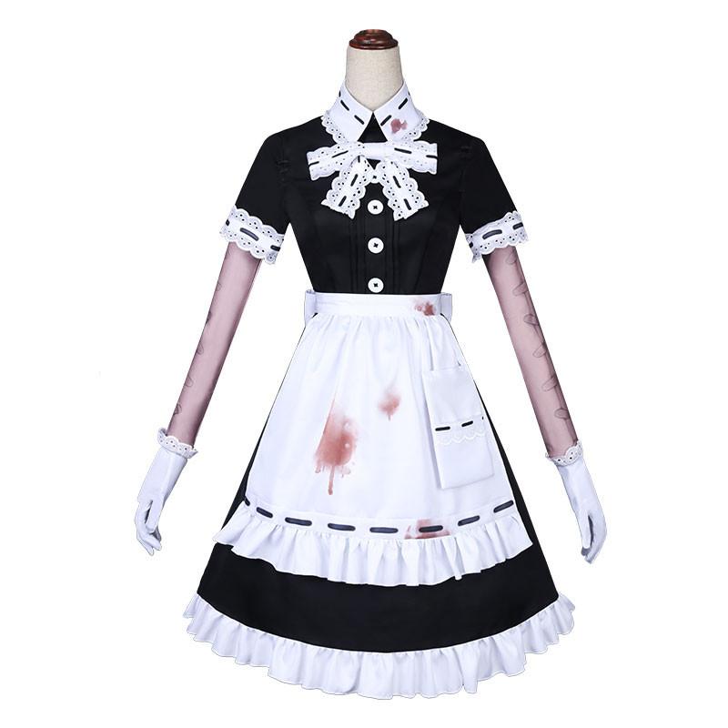 Identity Ⅴ 医師 宴会メイド コスプレ衣装 黒+白 レース
