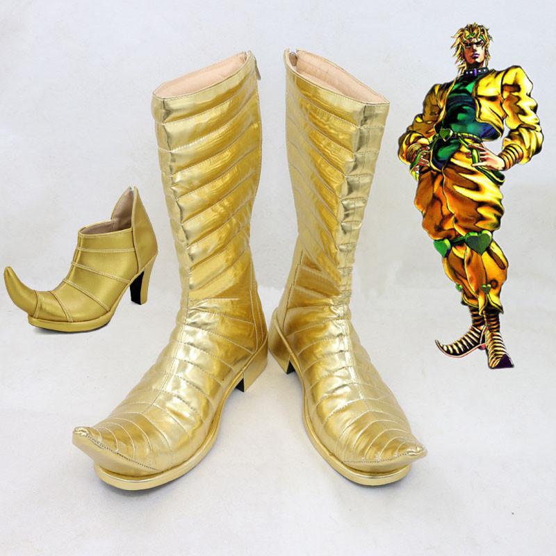 ジョジョの奇妙な冒険 コスプレ靴 ディエゴ・ブランドー DIO  靴 PU革