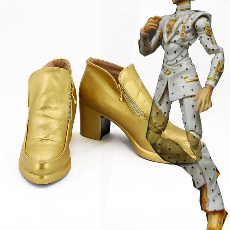 ジョジョの奇妙な冒険 コスプレ靴 ブローノ・ブチャラティ 黄金の風 靴 PU革