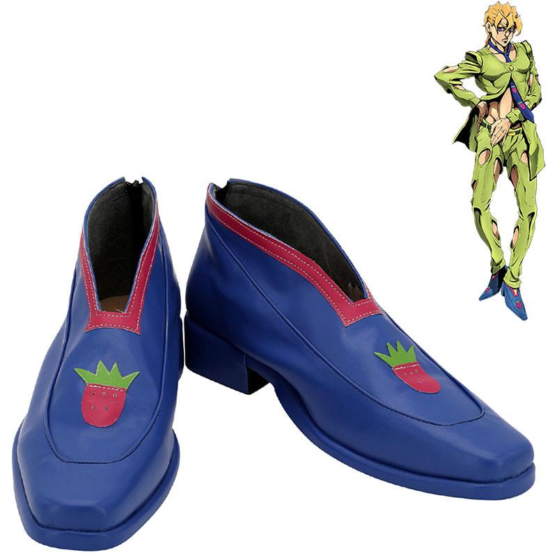 ジョジョの奇妙な冒険 コスプレ靴 パンナコッタ・フーゴ パープル・ヘイズ 靴
