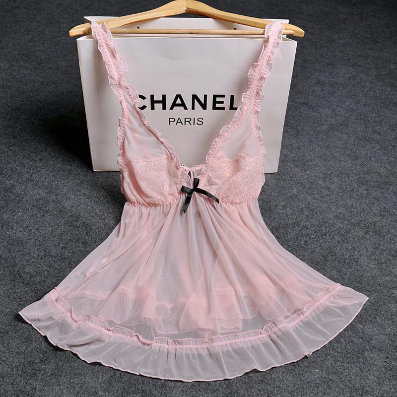 セクシー寝巻き  v襟 セクシーランジェリー 2色 黒 ピンク 可愛い おしゃれ 大人 女性用