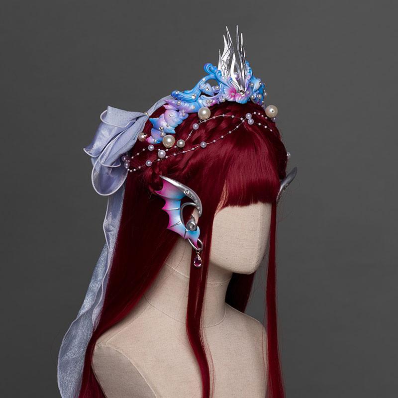 人魚飾り 髪飾り 耳飾り