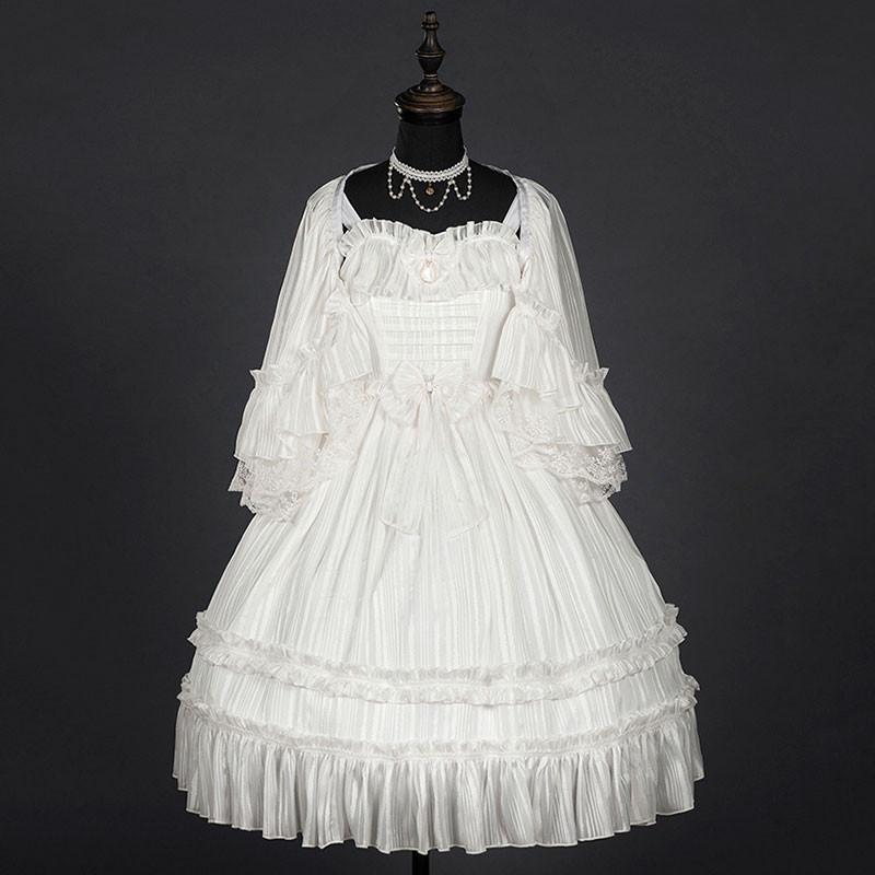 白色ドレス フリル ジャンスカ クラロリ