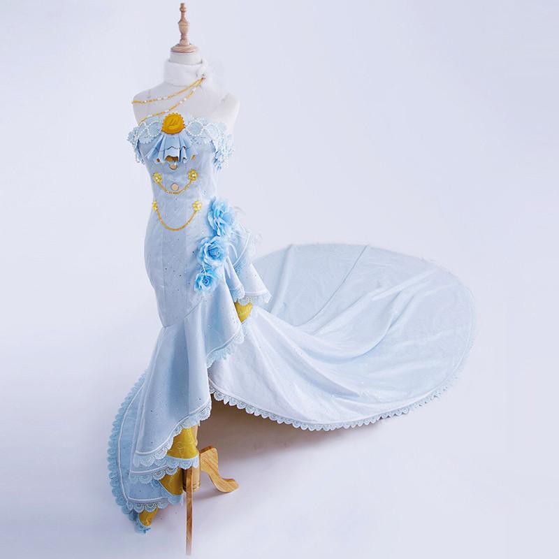 lovelive! ラブライブフラ花嫁覚醒 絢瀬絵里 豪華ウエディングドレス コスプレ衣装