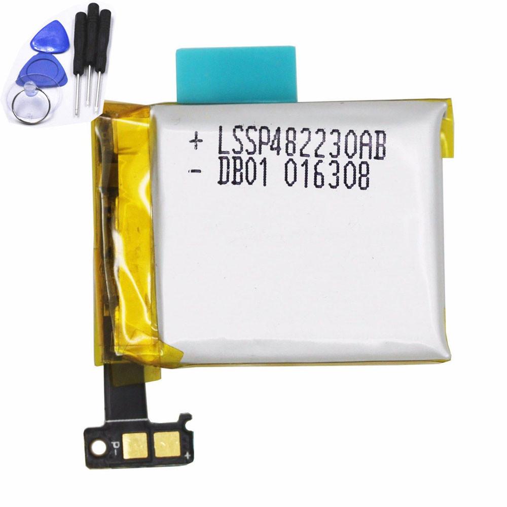 SAMSUNG(サムスン)(リチウムイオン)LSSP482230AB電池/バッテリー交換、SAMSUNG Galaxy Gear 1 SM-V700スマートフォンのバッテリー