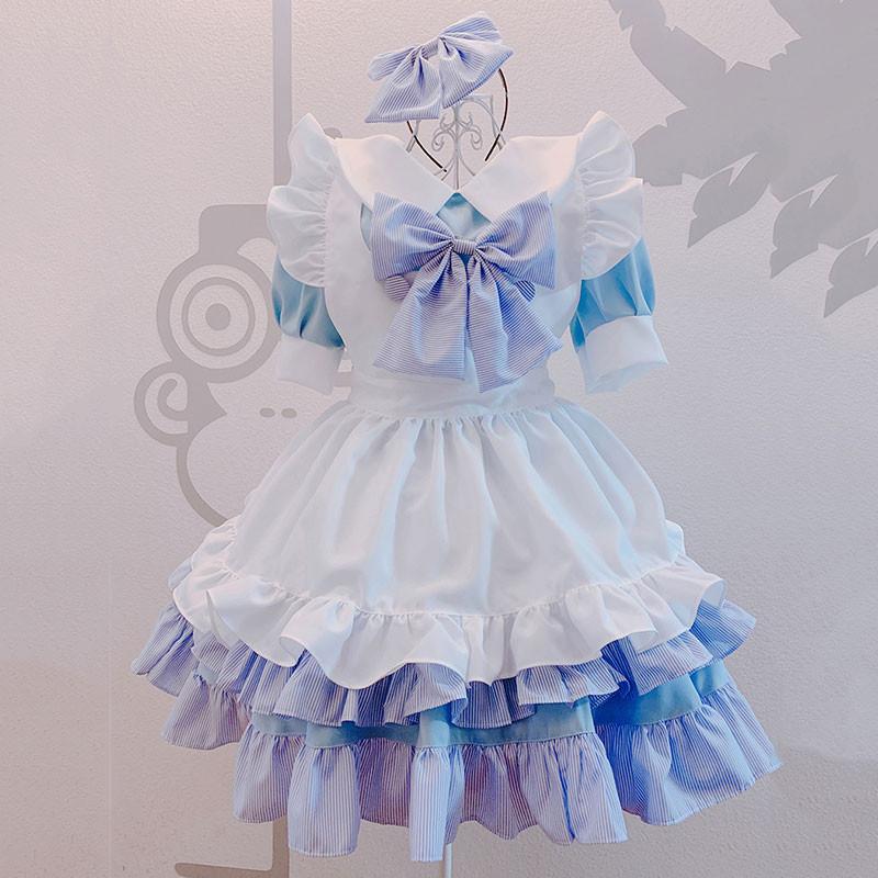 クリスマス 可愛い 萌え 荷葉裾 セット メイド服