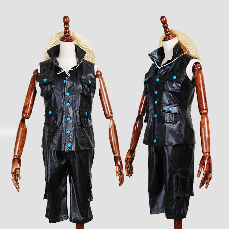 ワンピースフィルムゴールド ルフィ 黒 3セットコスプレ衣装