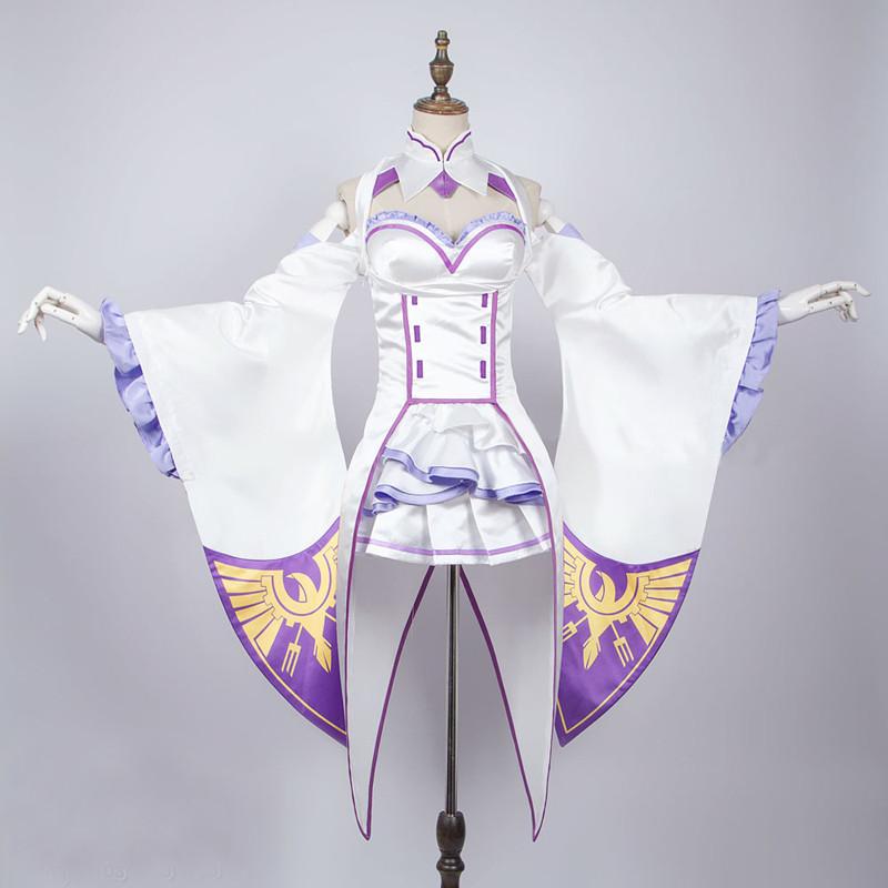 Re:ゼロから始める異世界生活 Emiria エミリア(リゼロ) コスプレ衣装