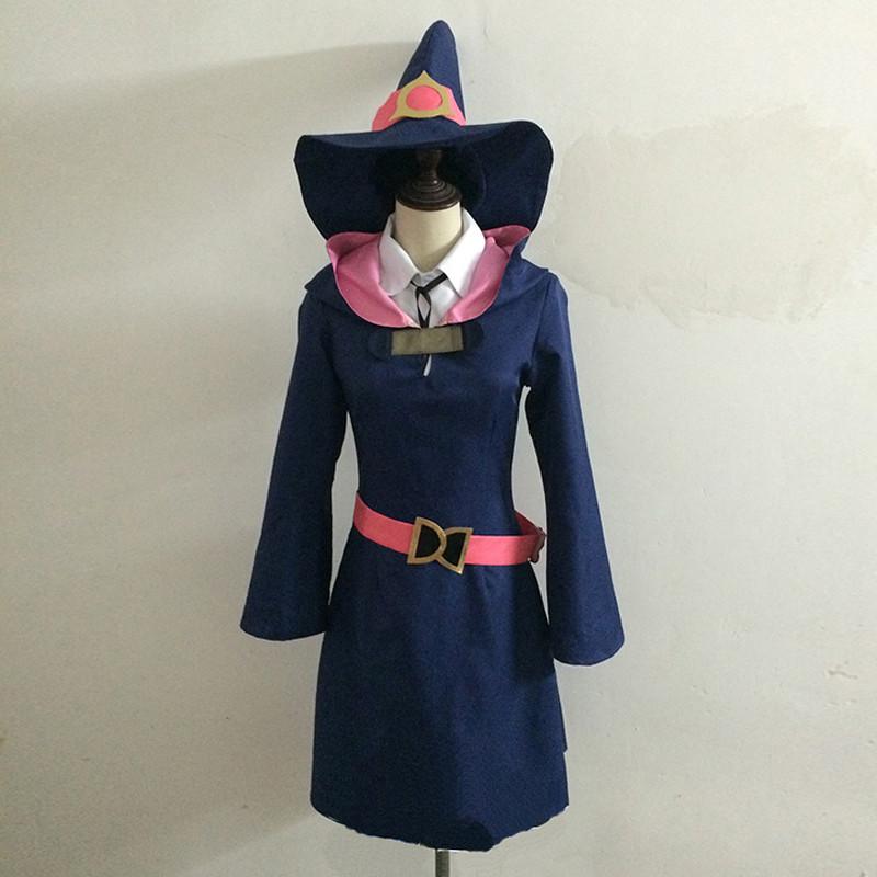 リトルウィッチアカデミア 魔女風 魔法士 帽子付き コスプレ衣装