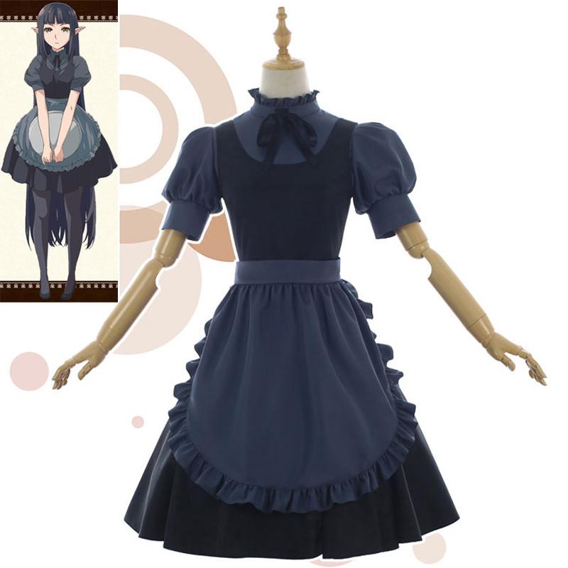 異世界食堂 メイド服 黒 くろ コスプレ衣装 コスチューム 耳付き