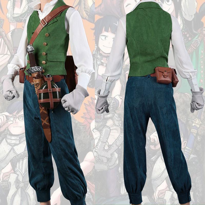 僕のヒーローアカデミア 緑谷出久 コスプレ衣装 復古感ベスト