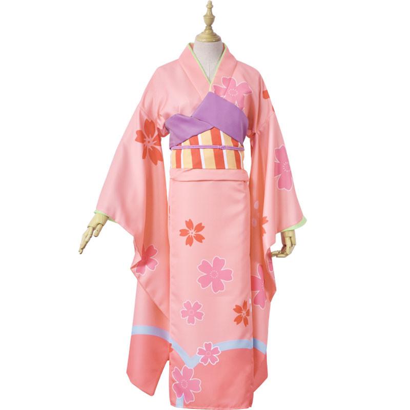 Fate/Grand Order FGO イリヤスフィール 浴衣 着物 桜柄 夏祭り 花火大会 コスプレ衣装