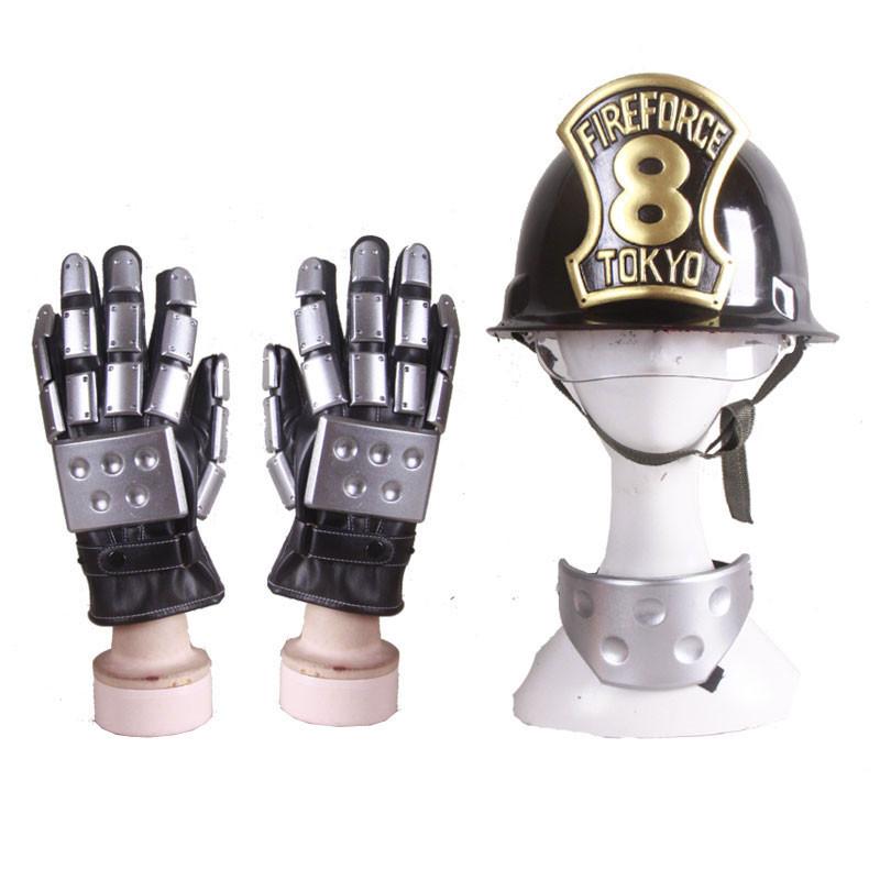 炎炎ノ消防隊 第8特殊消防隊炎炎ノ消防隊ヘルメット手袋 コスプレ道具
