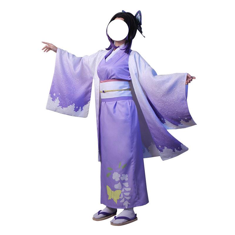 鬼滅の刃 胡蝶忍 着物 コスプレ衣装 紫 和服