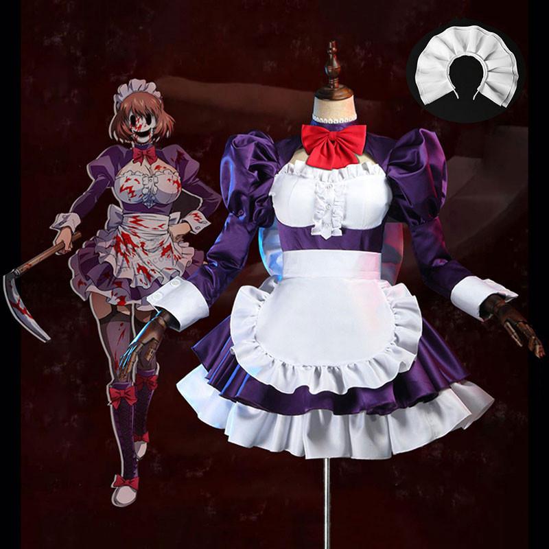 天空侵犯 メイド仮面 紫色 メイド服