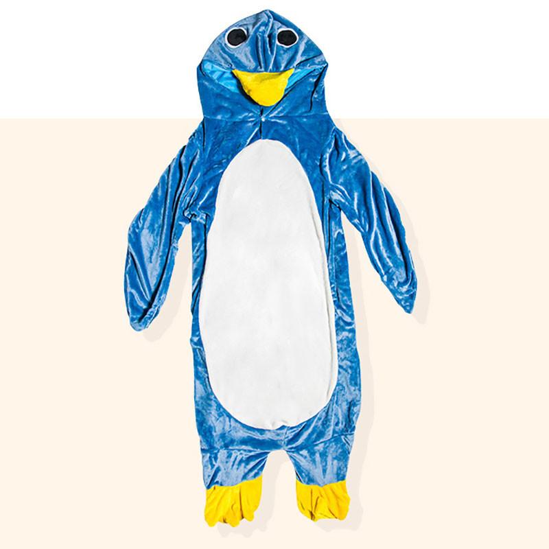 ペンギン 着る毛布 フランネル ブランケット