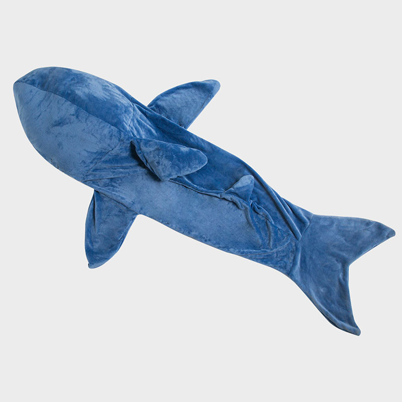 サメ 着る毛布 フランネル ブランケット