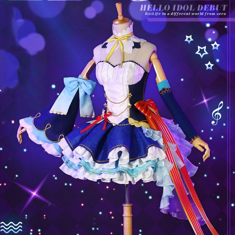 Re:ゼロから始める異世界生活  レム   アイドル ドレス シンガー  コスチューム