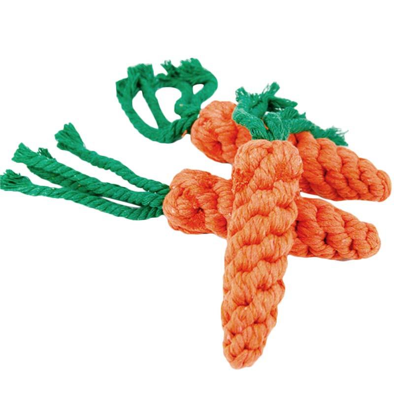 ペット用品 ペットおもちゃ にんじんおもちゃ にんじん縄を結ぶ