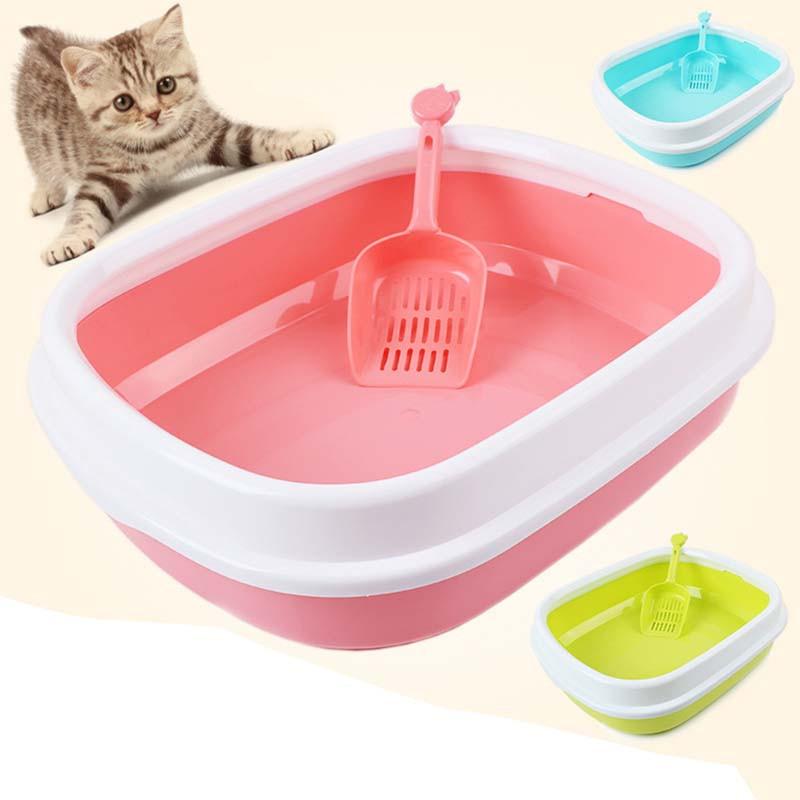 ペット用品 猫砂入れ ミニスコップ付き  猫 トイレ