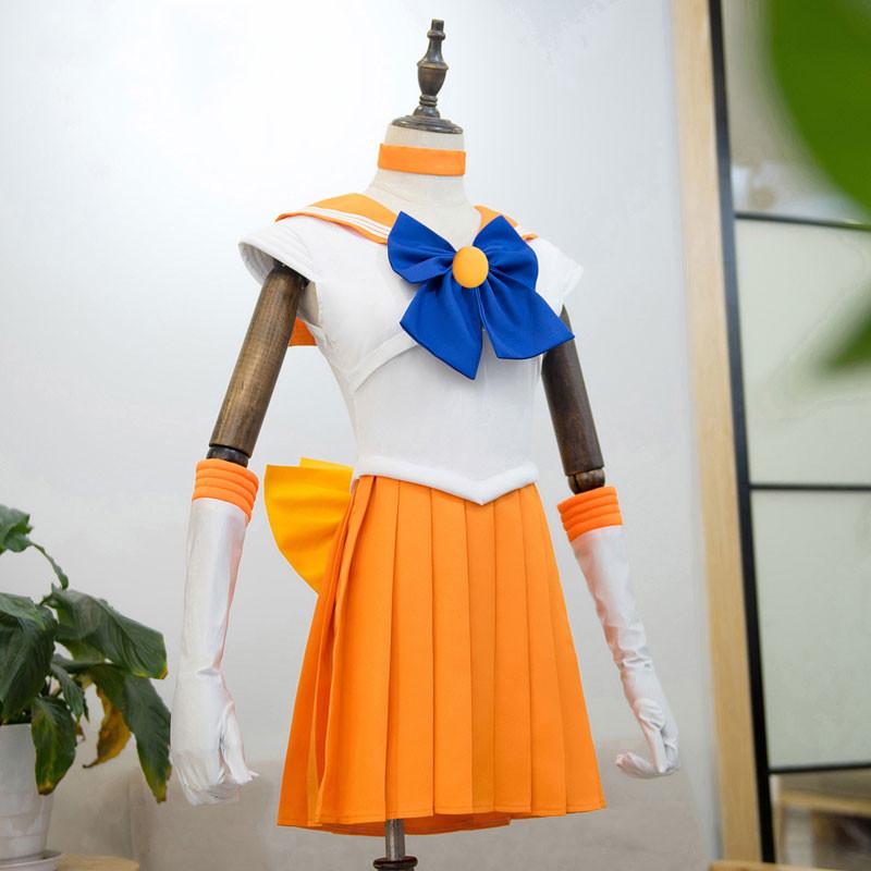美少女戦士セーラームーン セーラー制服 愛野美奈子 オレンジ色 通学 ハロウィン コスプレ