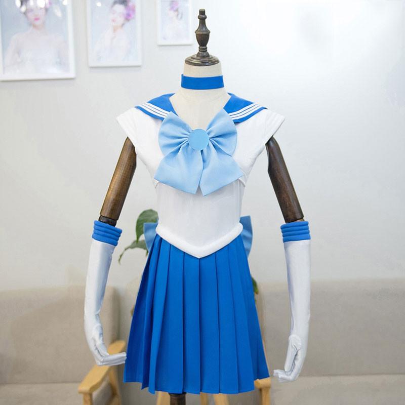 美少女戦士セーラームーン セーラー制服 水野亜美 青色 通学 ハロウィン コスプレ