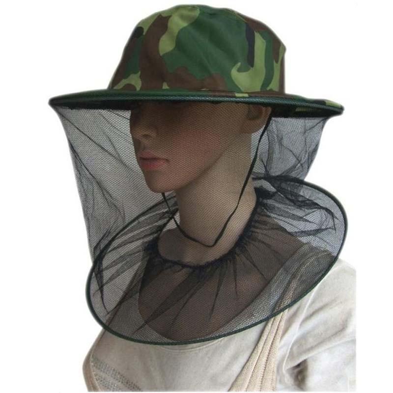 戸外用品 ケープ帽 帽子 迷彩 防護帽 蜜蜂 ミツバチを防ぎ 虫防ぎ